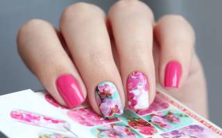 Несколько способов как клеить наклейки на ногти