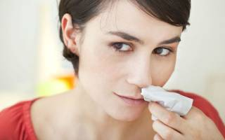 5 способов остановить кровь из носа