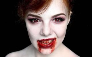 Как сделать красивый макияж вампира