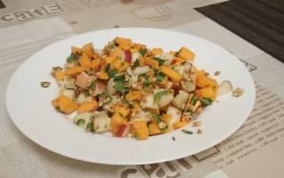 Салат из тыквы, яблок и орехов