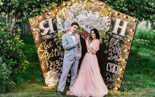 Как оформить фотозону на свадьбу