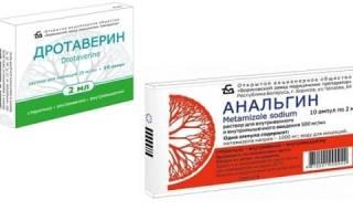 Можно ли принимать одновременно анальгин и дротаверин?