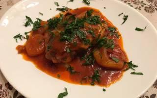 Курица по-мароккански в томатном соусе