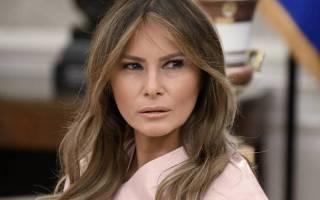 Мелания Трамп на приеме в Белом доме не надела нижнее белье