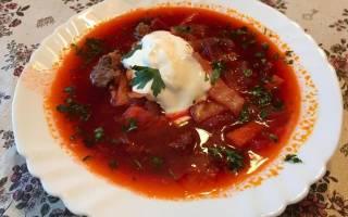 Рецепт борща с говядиной