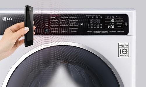 Диагностика возникшей проблемы в работе модели LG F10B8MD проводится с помощью специального приложения на смартфоне