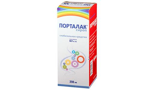 Сироп Порталак является пробиотиком, нормализующим микрофлору толстой кишки