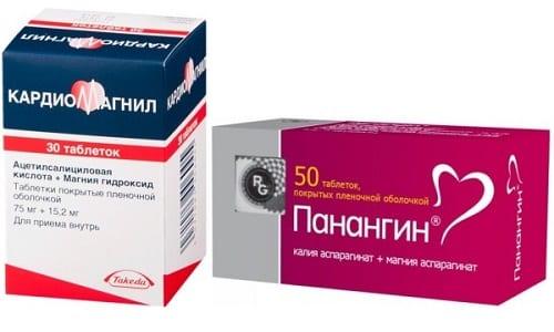 Панангин и Кардиомагнил часто используются для лечения нарушений в работе сердечно-сосудистой системы