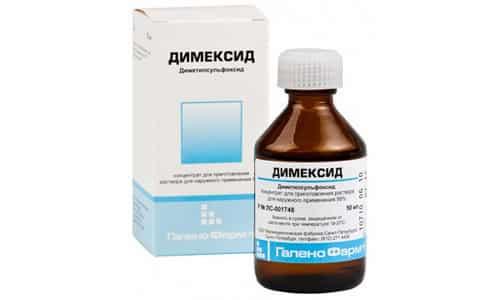Для приготовления классического рецепта раствора Димексид разводят водой пополам