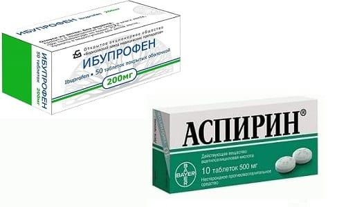 Ибупрофен и Аспирин устраняют воспалительные процессы, избавляют от боли, борются с жаром