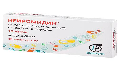 Нейромидин при грыже позвоночника используется в составе комплексной терапии