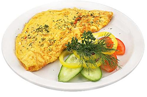 Блюдо из яиц с овощами