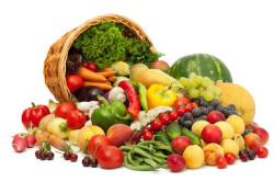 Фрукты и овощи в сыром виде