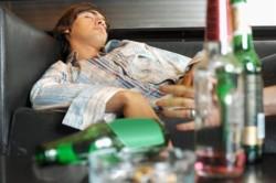 Липкий пот при отравлении алкоголем