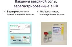 Вакцины ветряной оспы