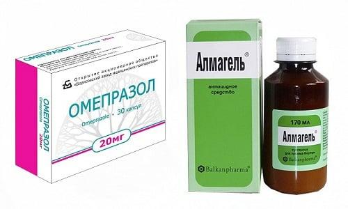 Чтобы добиться наилучшего эффекта при лечении гастрита, нередко назначают одновременно Омепразол и Альмагель