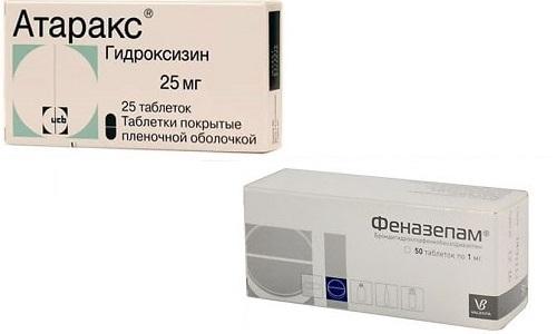 Для лечения беспокойства и тревожности используют Атаракс или Феназепам
