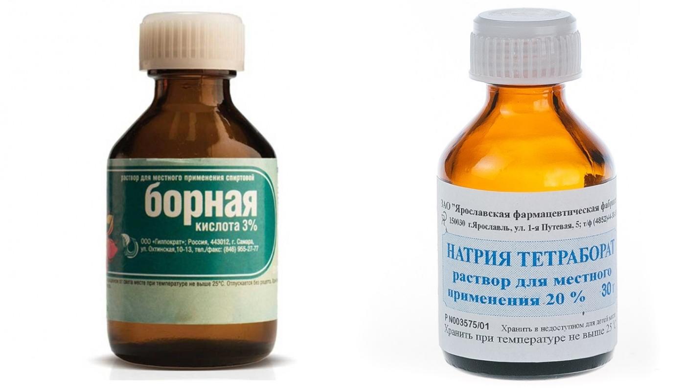 Борная кислота и тетраборат натрия