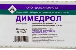 Димедрол для лечения потницы