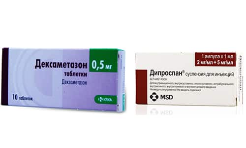 При заболеваниях воспалительного, аутоиммунного и аллергического характера врачи нередко назначают такие препараты, как Дипроспан или Дексаметазон