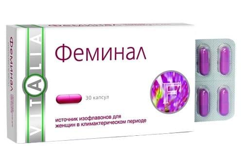 Феминал оказывает на женский организм эстрогеноподобное и противоклимактерическое воздействия
