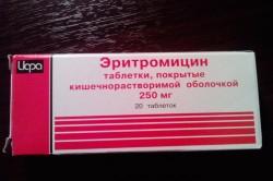 Эритромицин для лечения гинекологических заболеваний