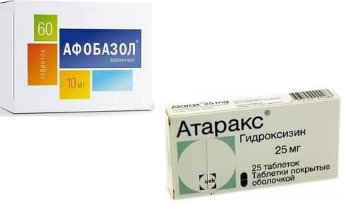 Атаракс и Афобазол назначают для купирования симптомов стресса и ряда заболеваний психосоматической этиологии