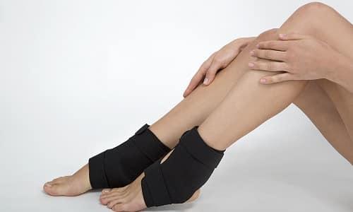 Фиксация голеностопа после травм