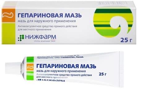 Гепариновую мазь можно использовать при тромбозе геморроидальных вен, перифлебите, мастите, слоновости, флебите