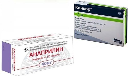 Анаприлин или Конкор применяют для лечения тахикардии и высокого давления