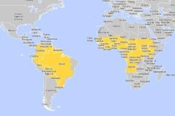 Места распространения желтой лихорадки
