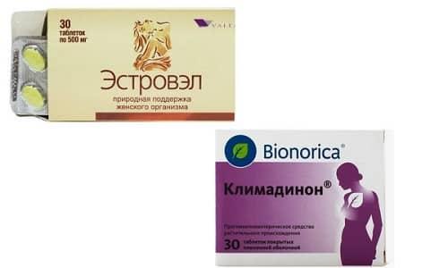Климадинон и Эстровэл помогают нормализовать гормональный фон и сделать переход в постменопаузу более плавным