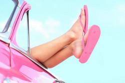 Ношение открытой обуви при потливости ног